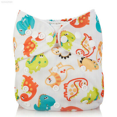B01C Cartoon Babies Absorbent Gifts Toddlers Diaper Unisex with Liner Velvet