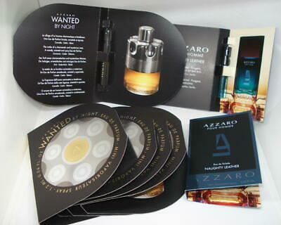 5 AZZARO WANTED BY NIGHT + 2 naughtly teather EAU DE TOILETTE POUR HOMME TIGETTE