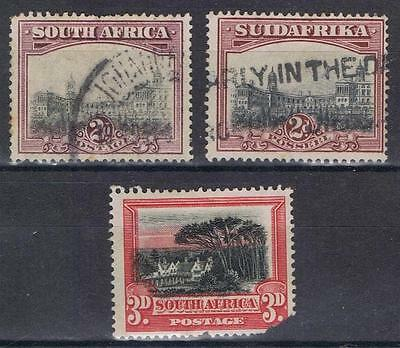 South Africa 1927 2d Union buildings perf 14 plus damaged 3d  SG 34  Used