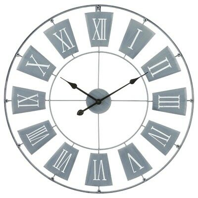 Large Ø 76 cm Metal Wall Clock Decorative Roman Numerals 12 Hour Display 2 Tips