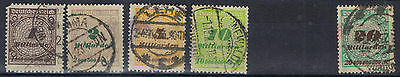 Germany 1923 Surcharges short set to 20 MD SG 327-31 MI 325A-9A Used