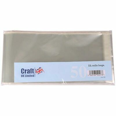 Craft UK DL Cello Card Bags | 50 pack