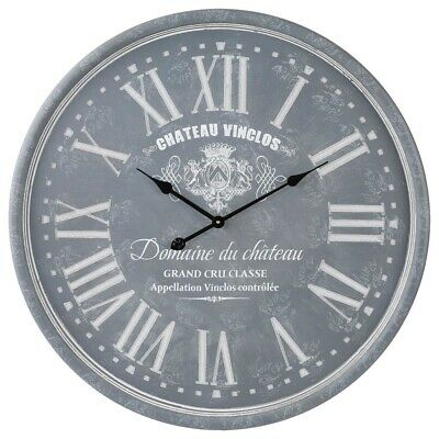 Large Ø 78 cm Wooden Wall Clock Decorative Roman Numerals 12 Hour Display 2 Tips
