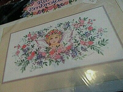vintage Dimensions ribbon embroidery kit 1437 Victorian Angel 1994 new