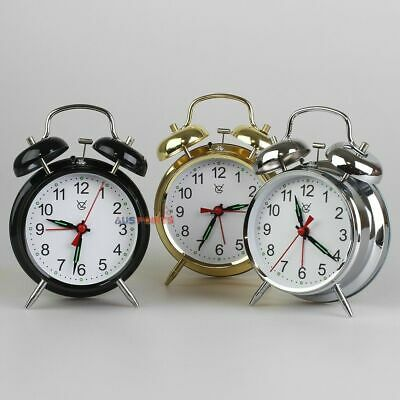 Acctim Saxon Retro Loud Double Bell Mechanical Keywound Alarm Clock