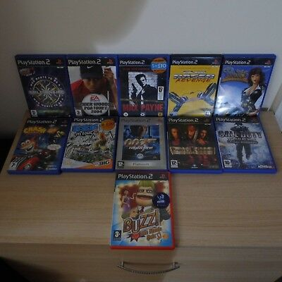 Job Lot PS2 11x Games 8x USED Scratched/untested Bundle