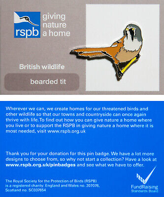 RSPB Pin Badge | bearded tit GNAH (01270)