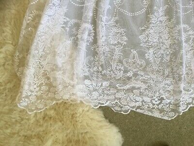 "MOST BEAUTIFUL French white lace single panel curtain 156"" x 90"" length"