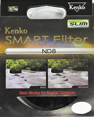 Kenko By Hoya 82mm ND8 Neutral Density Slim Smart Lens Filter - New UK Stock