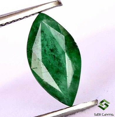 Certified Natural Emerald Marquise Cut 10x5 mm 1.00Cts Dark Green Shade Gemstone