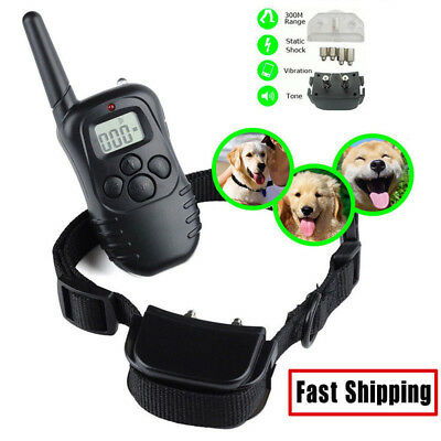 Rechargeable Anti-bark LCD Electric Shock Remote Collar Waterproof 1dog Training