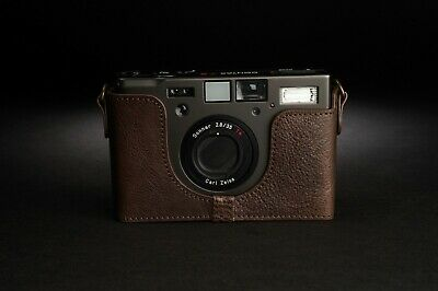 Genuine Real Leather Half Camera Case Bag Cover for Contax T3 Film Camera