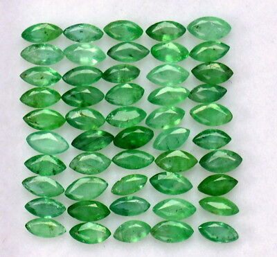 Natural Emerald Marquise Cut 4x2 mm Lot 30 Pcs 2.37 Cts Untreated Loose Gemstone