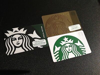 Canada Starbucks Logo Gift Card ----- Lot Of 3 Pcs. ----- New