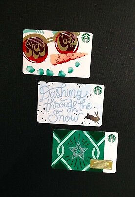 "CANADA STARBUCKS "" DIAMOND "" Marker ( RECYCLED PAPER ) GIFT CARD -- 3 PCS. - NEW"