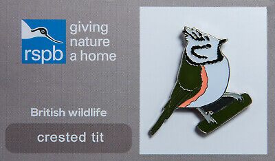 RSPB Pin Badge | crested tit GNAH (00153)