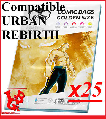 Pochettes Protection GOLDEN Size REFERMABLES comics x 25 Bags URBAN # NEUF #