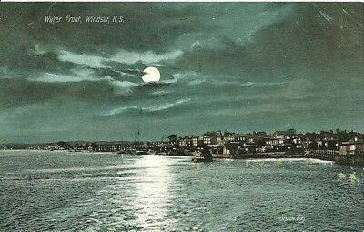 "Canada Postcard, "" WATER FRONT, WINDSOR, NS."". UNUSED. VF."