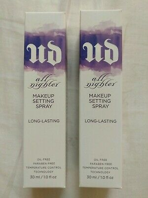 TWO Urban Decay All Nighter Makeup Setting Spray Full Size 30ml 4fl oz