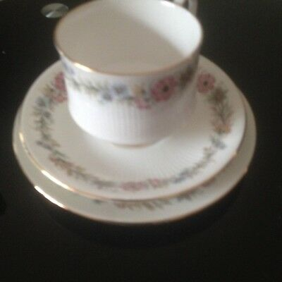 Paragon Bone China Tea Trio. Belinda Pattern.