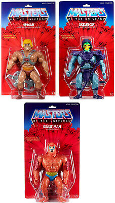 "☆LOT OF 3 MOTU Giant He-Man, Skeletor, & Beast Man 12"" Action Figures PRE-ORDER!"