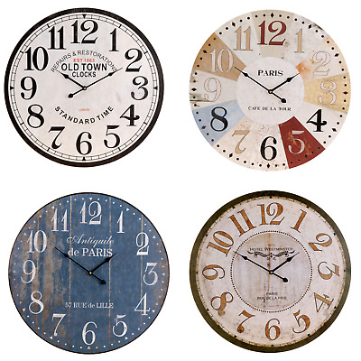 Large Ø 60 cm Metal Wall Clock Decorative Arabic Numerals 12 Hour Display 2 Tips