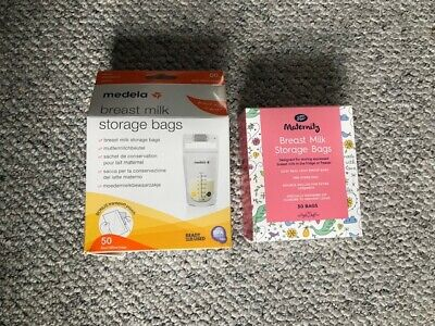 Breast milk storage bags-50pk Medela (unopened) and 30pk Boots (opened, 10 used)