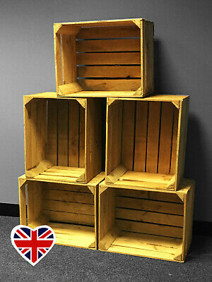 WOODEN STORAGE BOXES - Authentic Strong Used Box - UK Seller - FREE Delivery