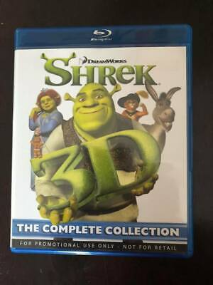 Shrek 3D Blu-Ray The Complete Collection 1 2 3 4 (4-Disc Blu-Ray Set) - MINT