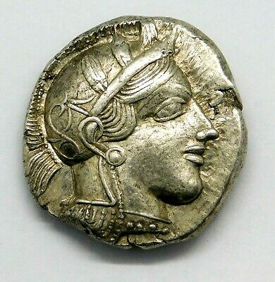 Attica, Athens. Outstanding Tetradrachm. Ancient Greek Silver Coin.