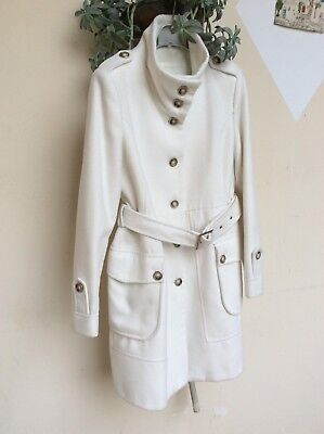 32f1e5e484 ELEGANTE TRENCH DONNA cappotto bianco tg 44/46 white woman trench coat M