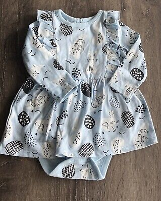 76073ccbf2ea EUC CAT   Jack Baby Girls Size 6-9 Months Blue Easter Dress Bunny ...