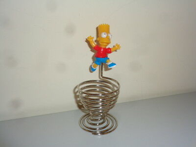 The Simpsons Bart Simpson Wire Egg Cup Collectable Excellent *rare* Htf