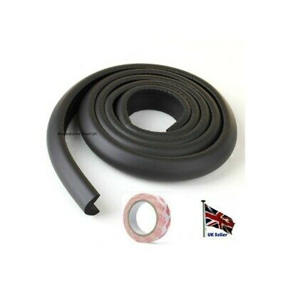 Baby Safety Table Desk Edge Black Cushion Guard Strip Softener Bumper Protector