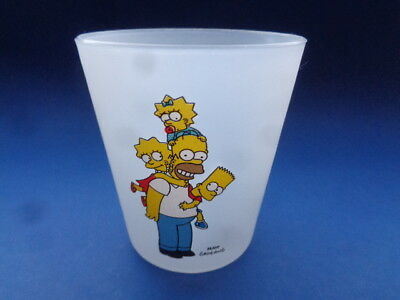 The Simpsons Plastic Frosted Mug Cup 2008 Fox