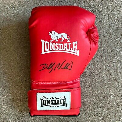 Sale Billy Walker Hand Signed Lonsdale Boxing Glove Authentic + Coa