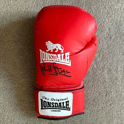 Sale John H Stracey Hand Signed Lonsdale Boxing Glove Authentic + Coa