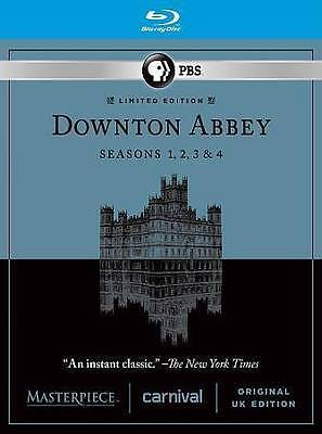 NEW - Masterpiece: Downton Abbey - Seasons 1-4 (Blu-ray Disc, 2014, 11-Disc Set)