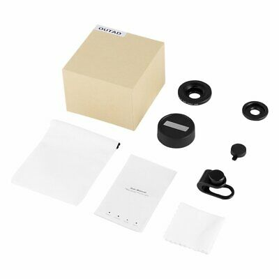OUTAD 120° Wide Angle/Micro Lens 2 in 1 for Clip-on Phone Camera Lenses Kit   H