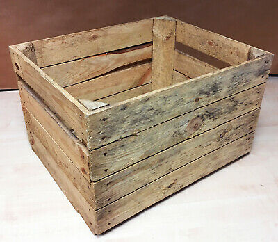EXTRA LARGE WOODEN STORAGE BOX - Genuine Rustic  - UK Seller - FAST DELIVERY