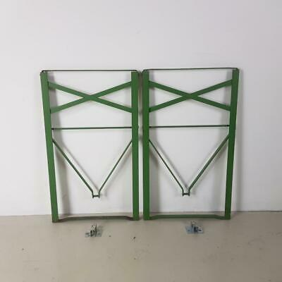 Set Of Vintage Wooden Beer Biergarten Garden Table Spare Green Metal Legs #