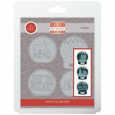 First Edition Die Set Christmas Snow Globe Tis the Season | Set of 4