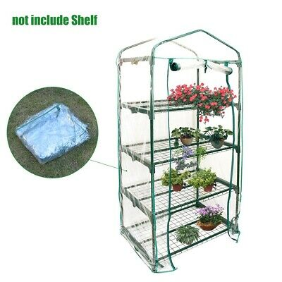 Garden Greenhouse 3/4/5Tiers Green Hot Plants House Shed Storage PVC Cover Apex