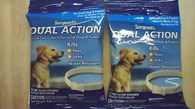 2 PKG - SERGEANT'S DUAL ACTION FLEA & TICK COLLAR for Small Dog & Puppies