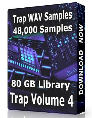 48,000+ Trap WAV Samples Loops Volume 4, Ableton Logic Pro Tools FL Studio Acid