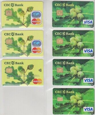 (S) Different Expired Romania Bankcards Cec Bank