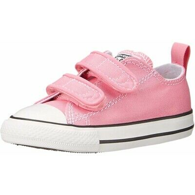 Converse Chuck Taylor All Star 2V Pink Textile Baby Trainers Shoes