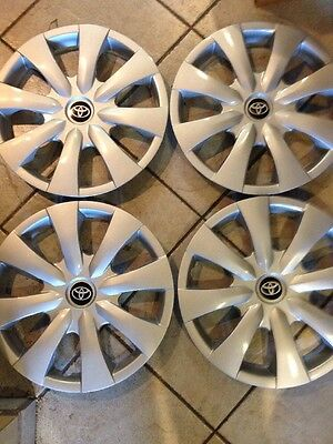 4-New 2009 2010 2011 2012 2013 Corolla  Hub Cap Hubcap Wheel Cover 15""