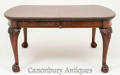 Mahogany Chippendale Dining Table - Extending Diner
