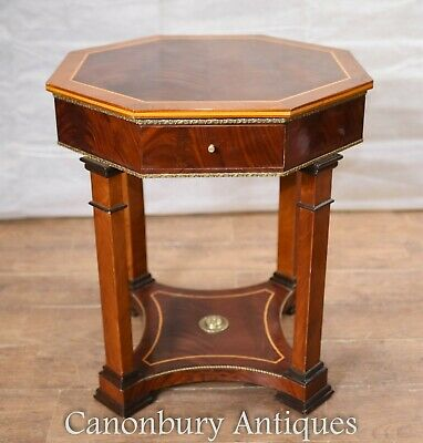 Regency Side Table Octagonal Walnut Side English